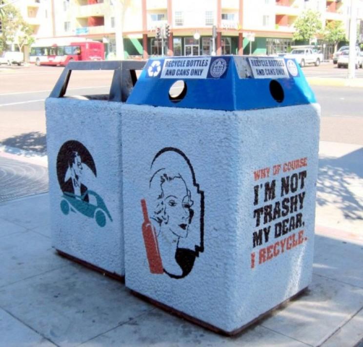 recycling bin Kristin Hardy