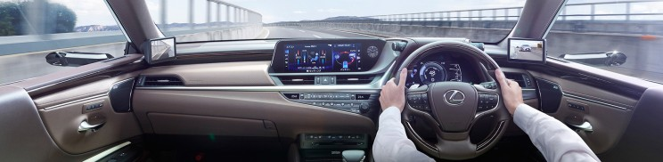 Lexus world's first* Digital Side-View Monitors
