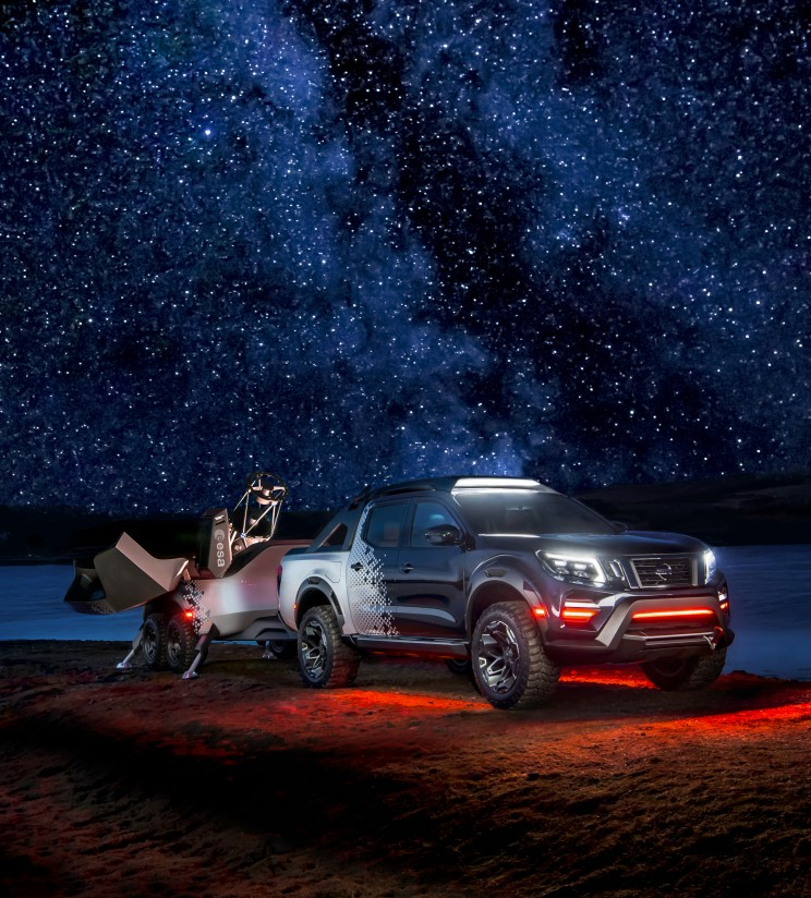 Nissan Navara unveils mobile space observatory.