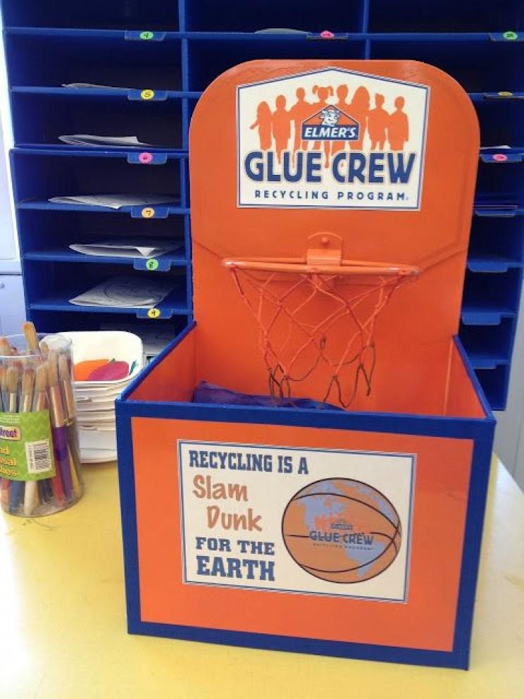 slam dunk recycling bin