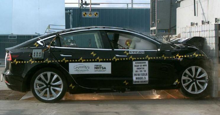 Tesla Model 3 Awarded Perfect 5-Star NHTSA Safety Rating