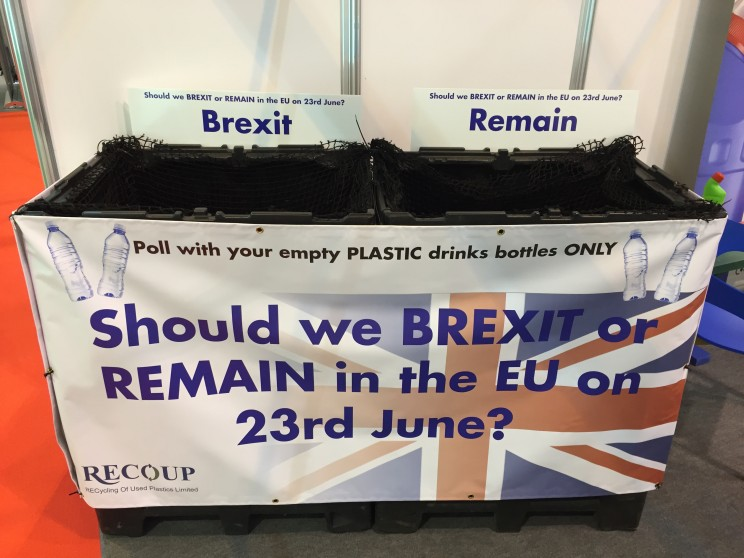 voting Brexit recycling bin