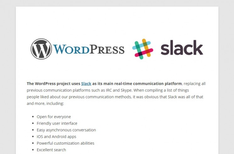 WordPress Slack Group