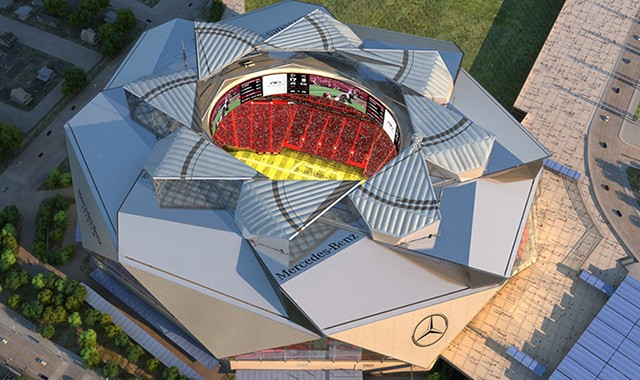 This Video of the New Mercedes-Benz Stadium Shows 39 Months of Construction in Just a Few Minutes