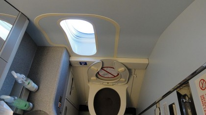 Explore the Inner Workings of an Airplane Lavatory