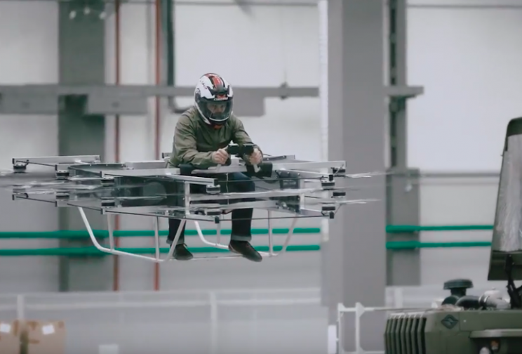 Kalashnikov Just Unveiled Its New Futuristic Manned Hoverbike