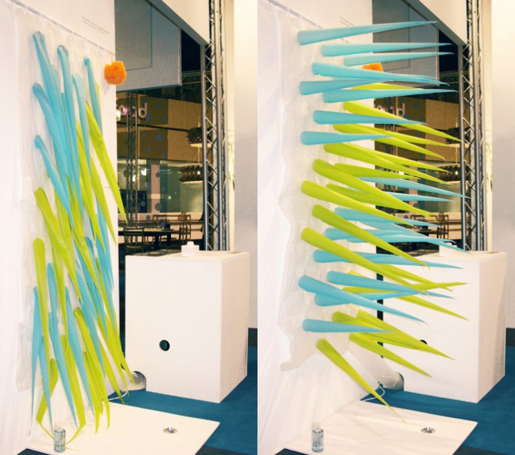 This Eco-Warrior Shower Curtain Forces You to Get Out of the Shower After 4 Minutes