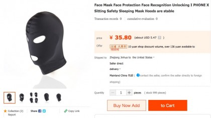 These Full Face Masks Are on the Market as iPhone X Anti-Identity Theft Devices