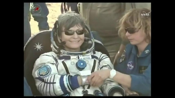 Record-Breaking Astronaut Peggy Whitson Returns Home from ISS