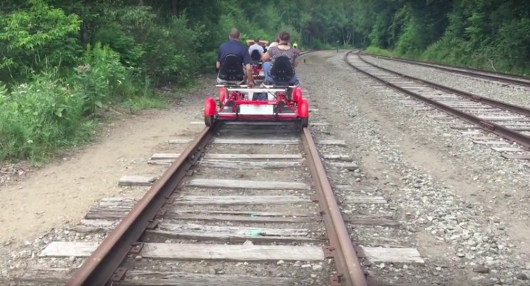 Traveling Through the Adirondacks Just Got Easier with Railbiking