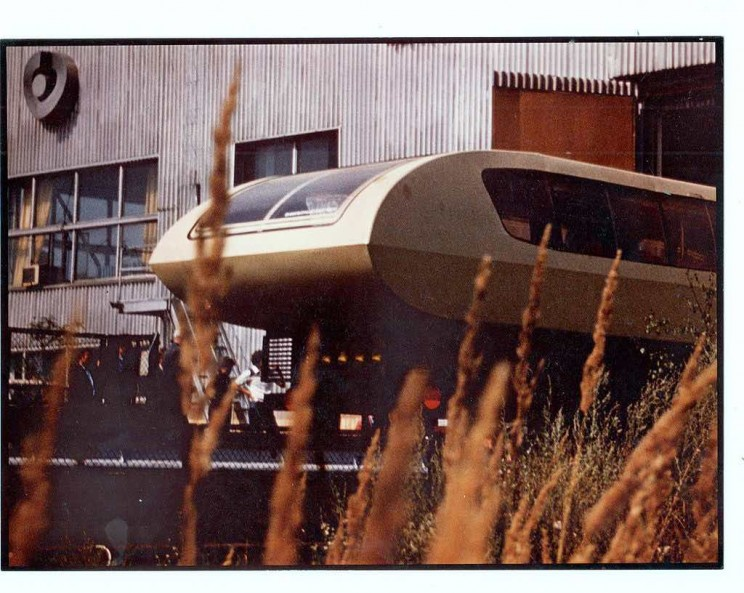 This Spaceship-Like Soviet Magnetic Levitation Train Could