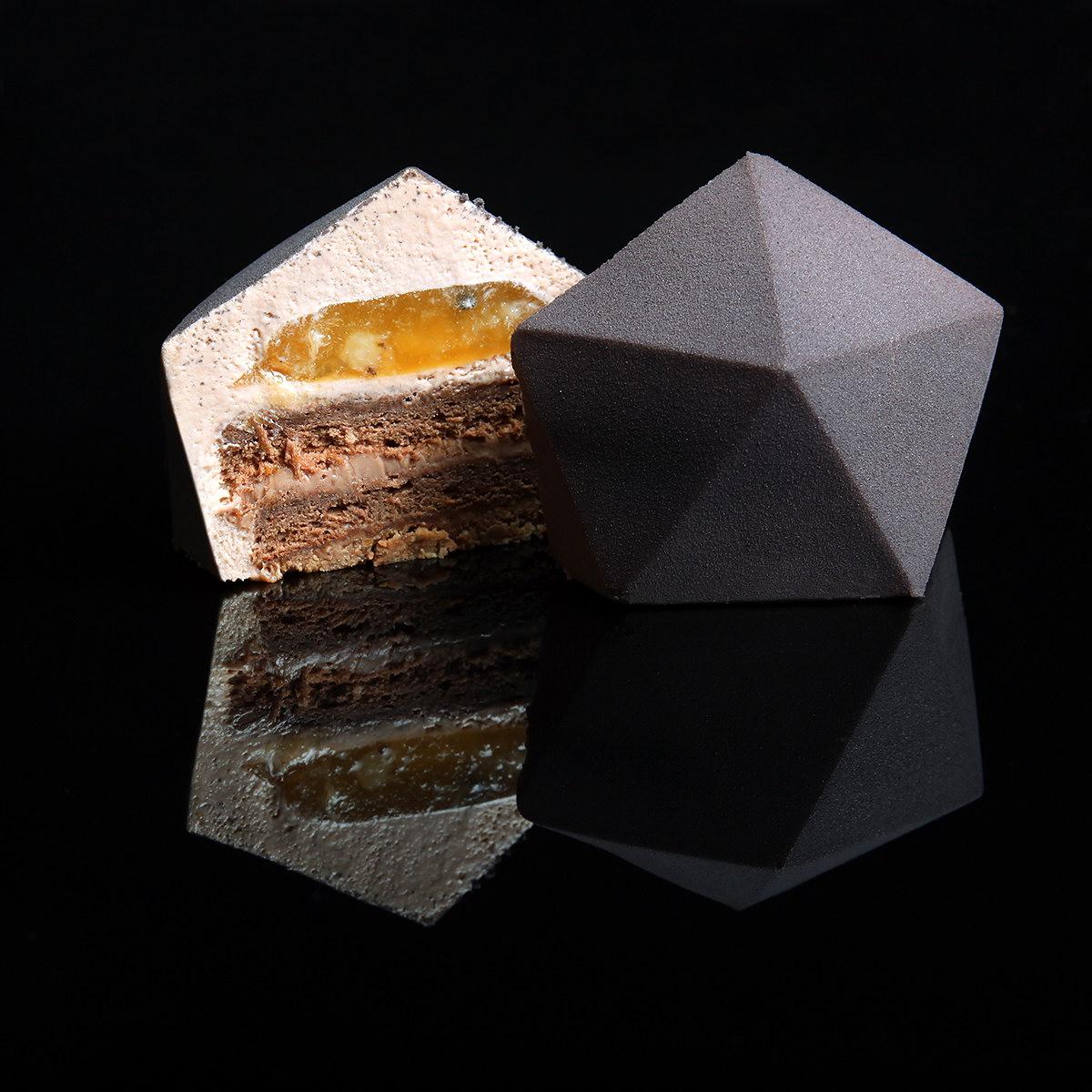 dinara kasko geometric desserts in 3d printed molds
