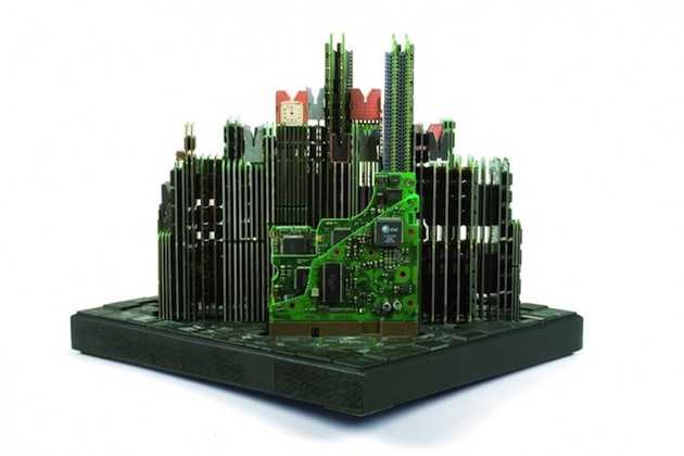 Computer-Parts-Turned-Architectural-Sculpture-by-Franco-Recchia-2