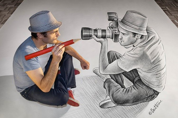 Pencil-vs-Camera-Optical-Illusion-Drawings-1
