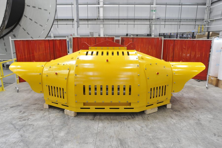 Dated: 01/04/2010 The Wave Hub which will sit on the seabed 10 miles off the Cornish coast as part of the Wave Hub project, the world's largest test site for wave energy technology. The Wave Hub will be connected to the National Grid by cables manufactured at JDR Cables Systems in Hartlepool. #NorthNewsAndPictures/2daymedia