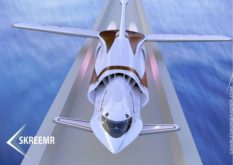 Skreemr - aircraft 5 times faster than concorde-front