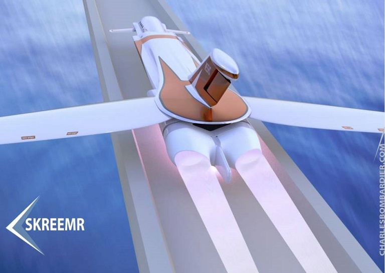 Skreemr - aircraft 5 times faster than concorde-rear