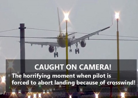 Airbus A320 forced to abort landing