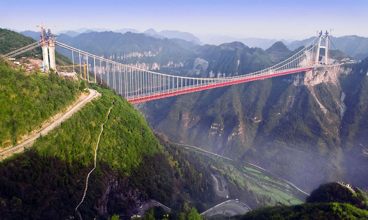 aerial_view_chinese_suspension bridge