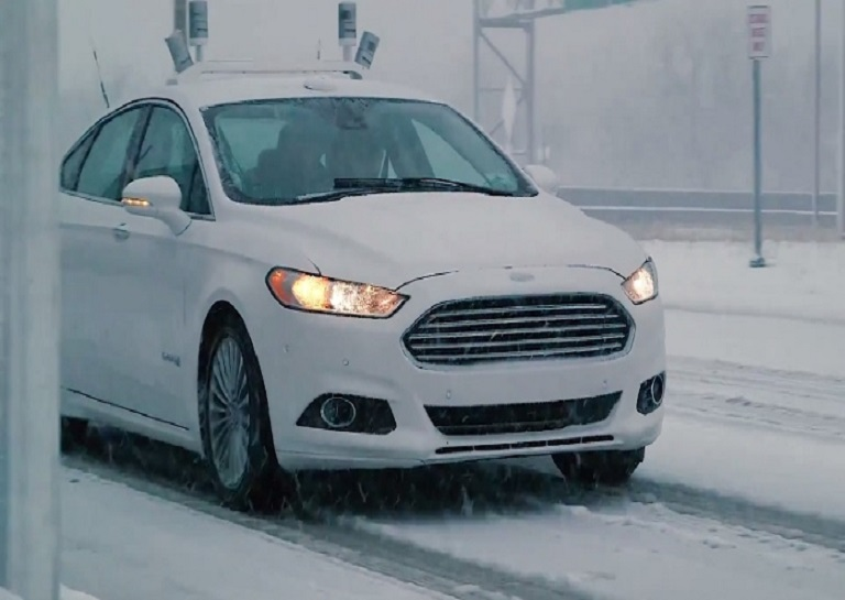 ford in snow