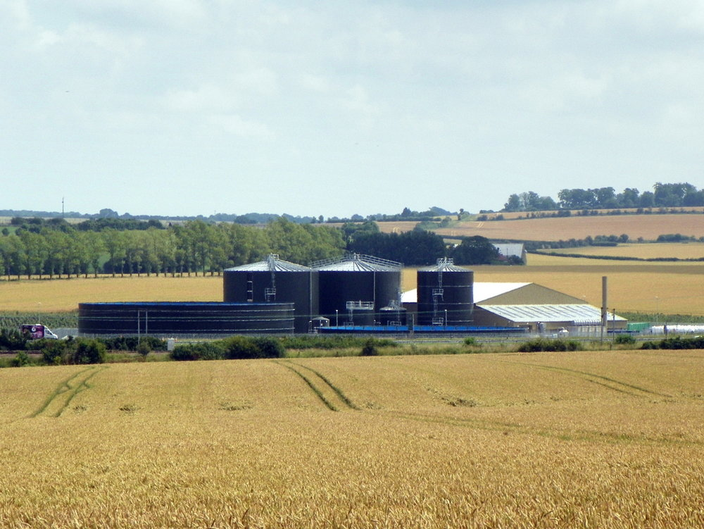 "Biogen - The Bygrave Lodge anaerobic digestion (AD) plant opened in May 2015, so almost a year after this photo was taken. The plant still doesn't appear on most maps (including Google) but the latest OS maps on streetmap.co.uk show a ""power station""."