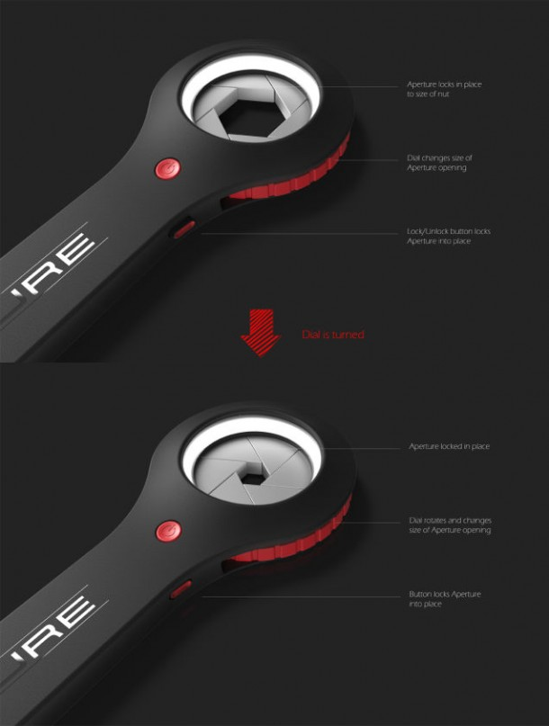 aperture adjustable wrench