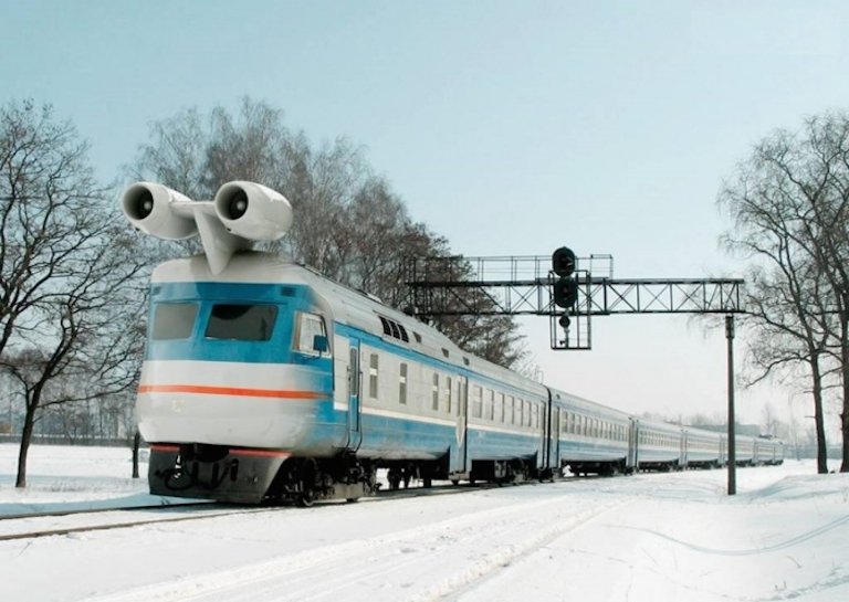 Russian turbo jet train