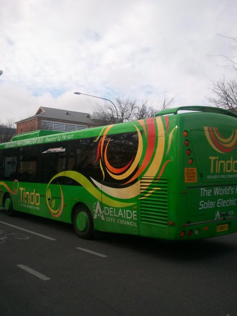 Hello Tindo. Adelaide's solar powered bus.