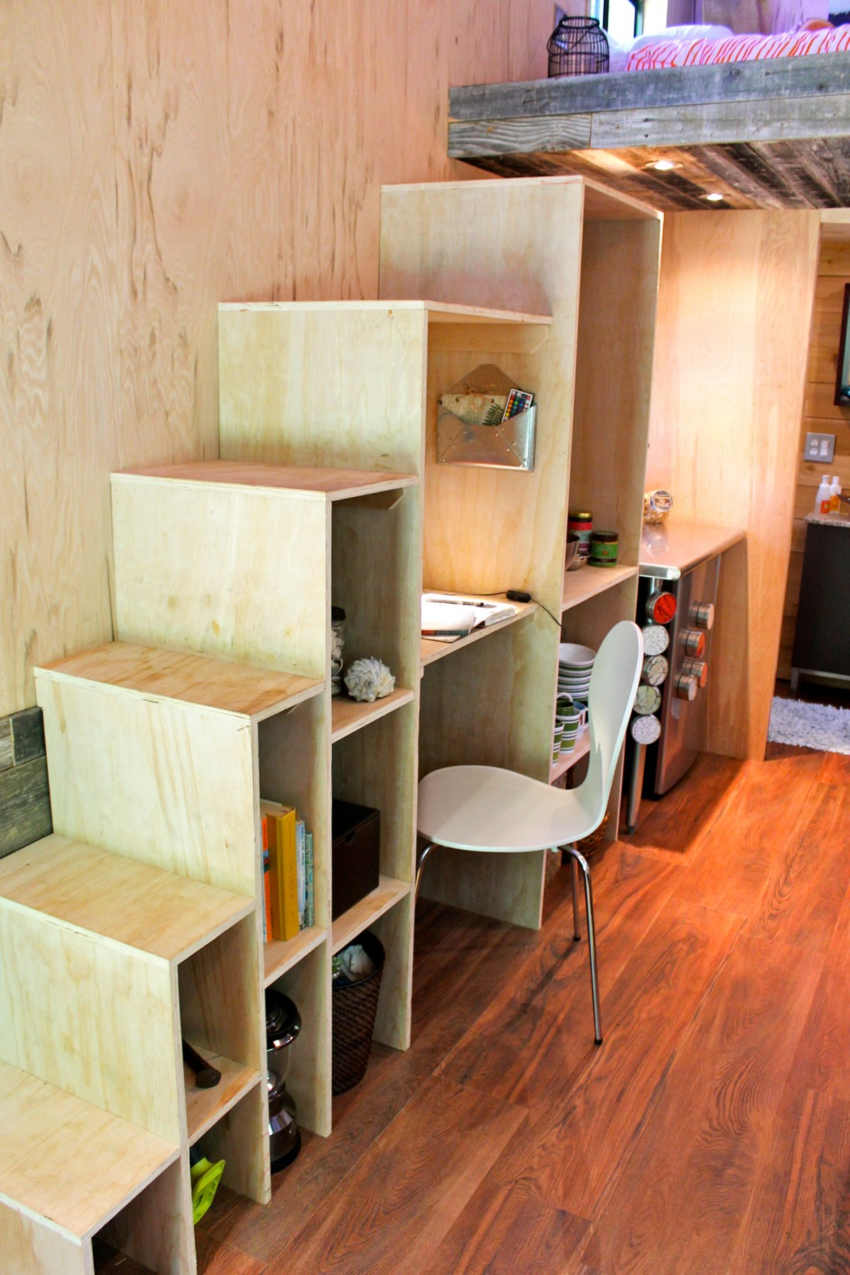 tiny house -office-stair tiny home