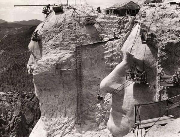 11. Mt. Rushmore under construction (1939)