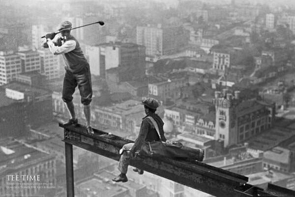 12. Playing golf on a skyscraper (1932)