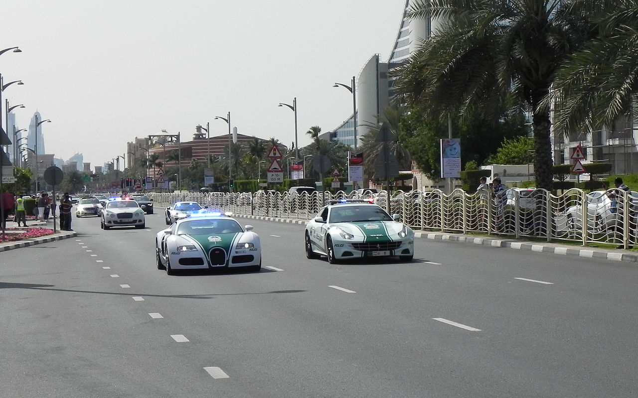 dubai luxury police car