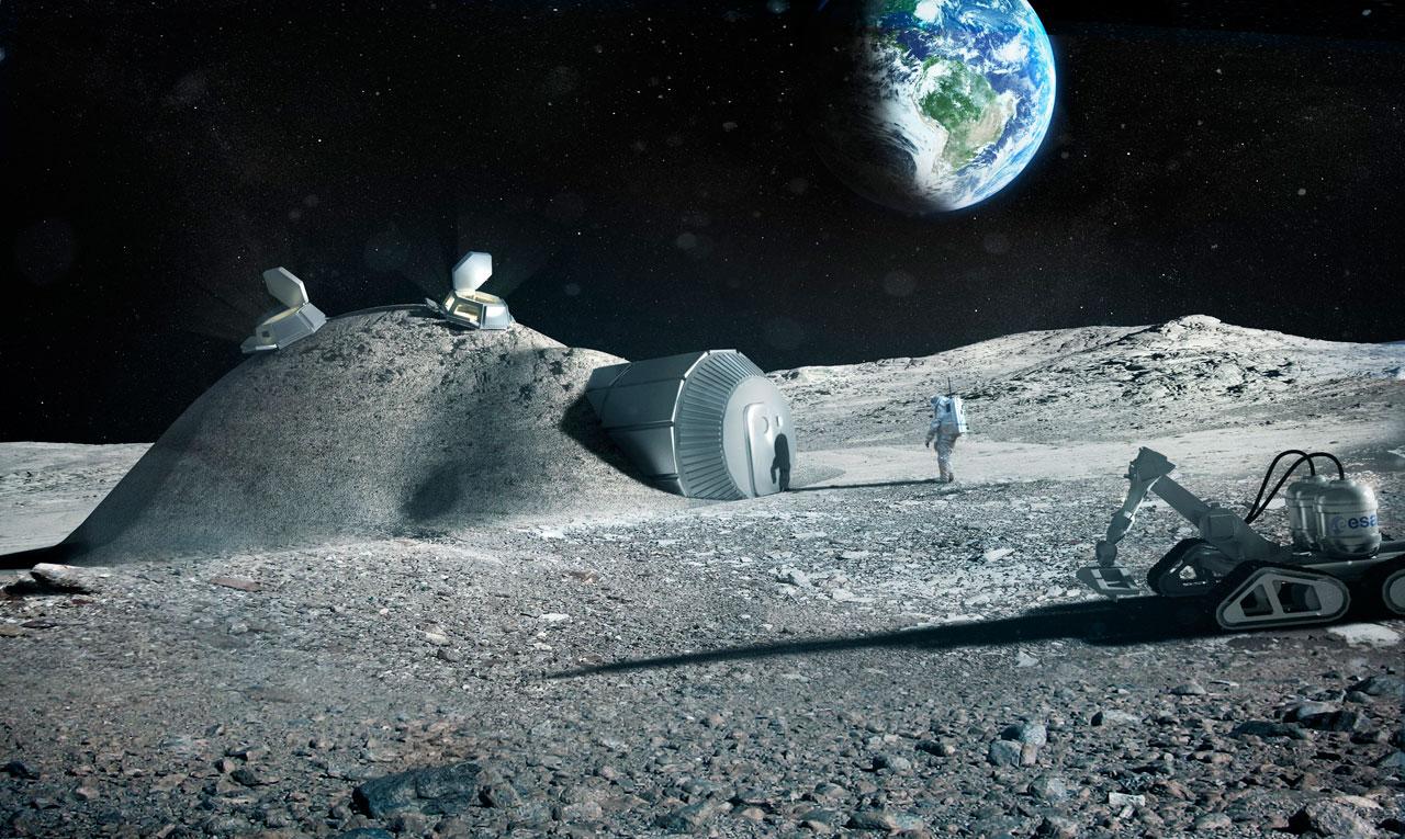 ESA space astronaut village