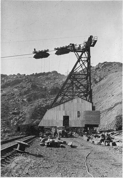Hoover dam construction tram