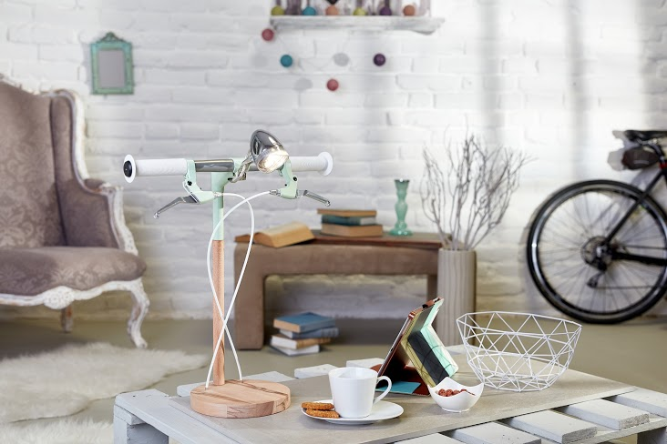 IndustrialKid bicycle lamp desk