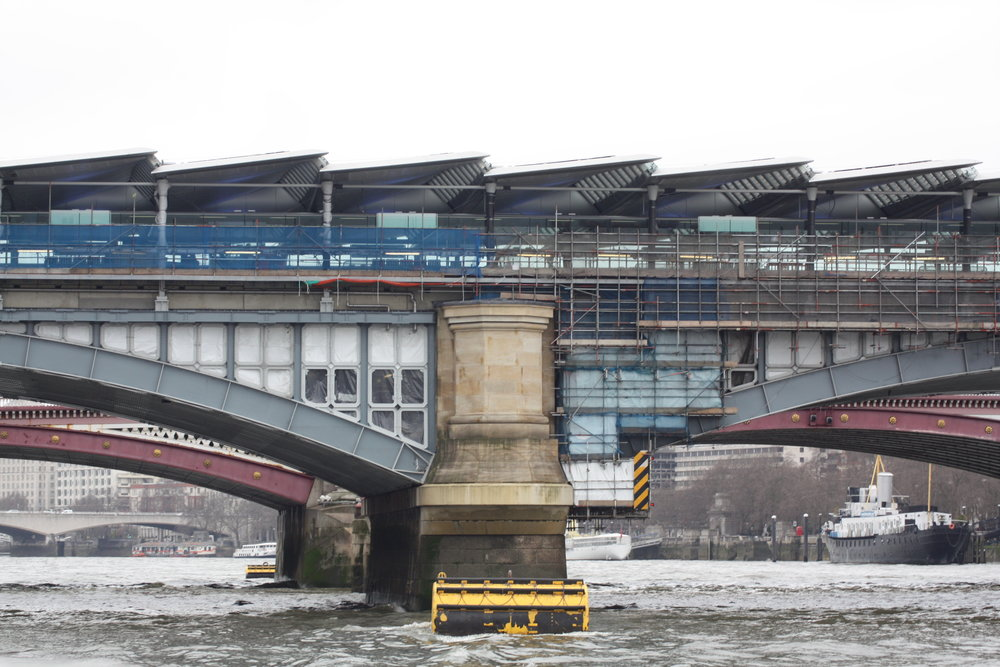 London Bridge station, with it's newly installed canopy of solar panels.