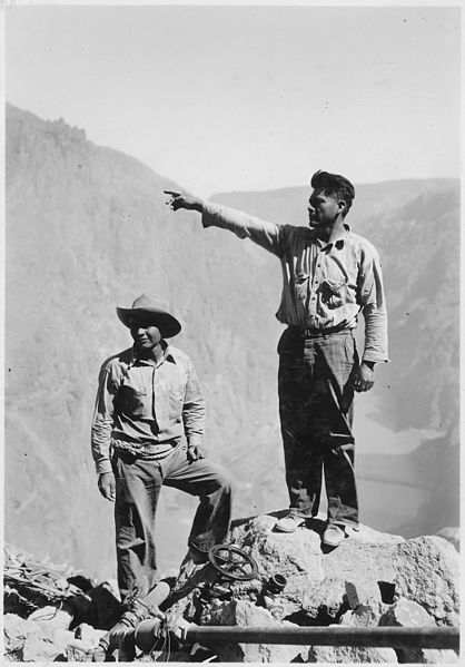 apache indians working on hoover dam