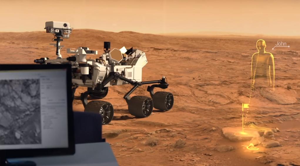 control mars rover teleport hololens