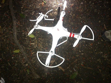 drone crash in white house