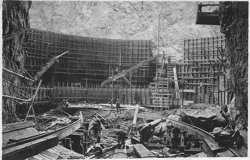 hoover dam concrete formwork