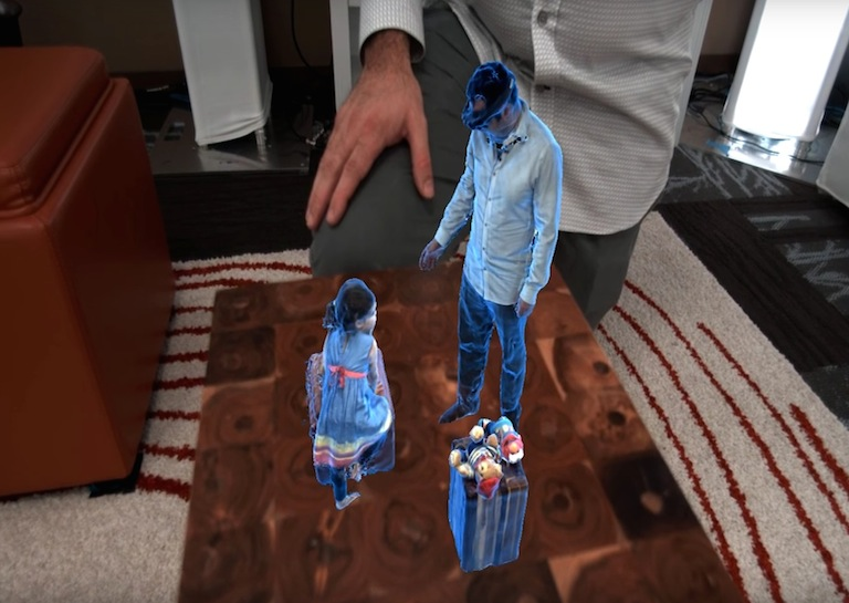 teleportation hololens video holoportation