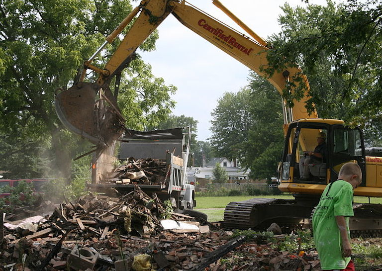 wrong house demolition