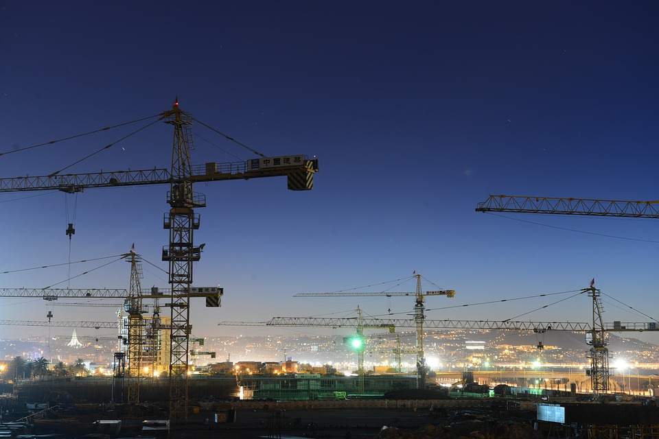 cranes construction wallpaper