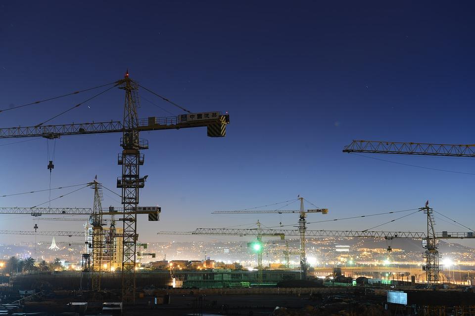 cranes construction wallpaper