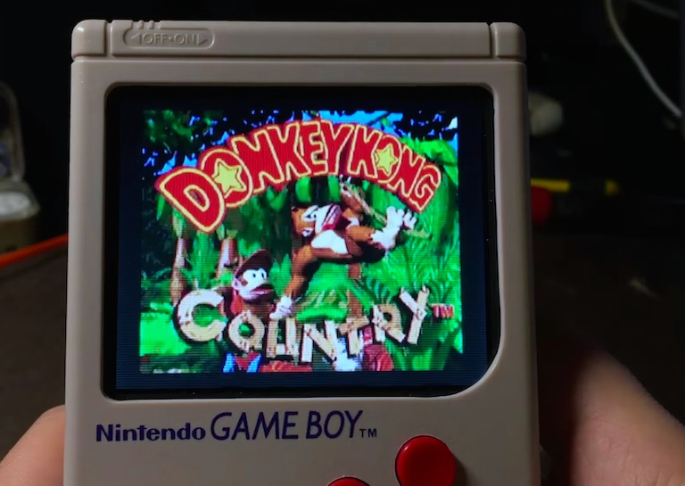 donkey kong modified gameboy