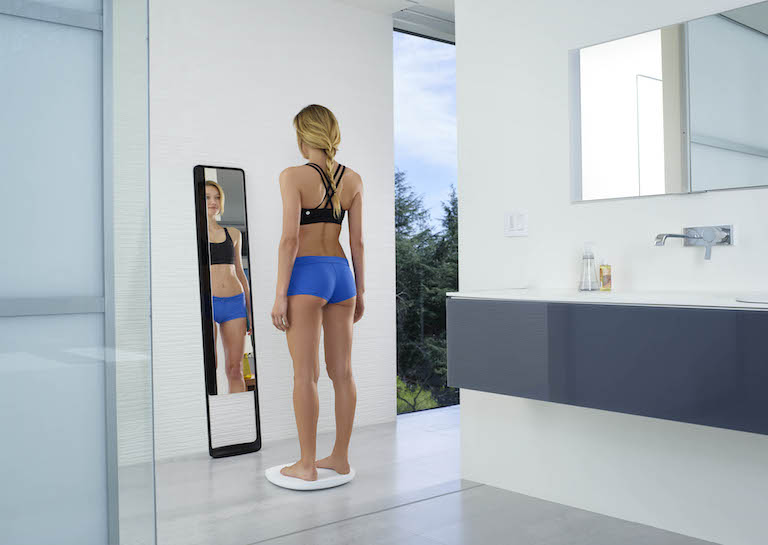 goal tracking bathroom mirror naked