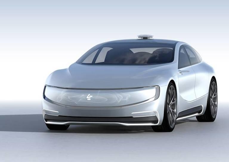 leeco tesla autonomous car