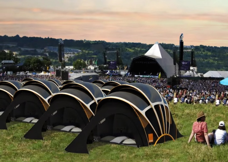 solar powered tent concerts