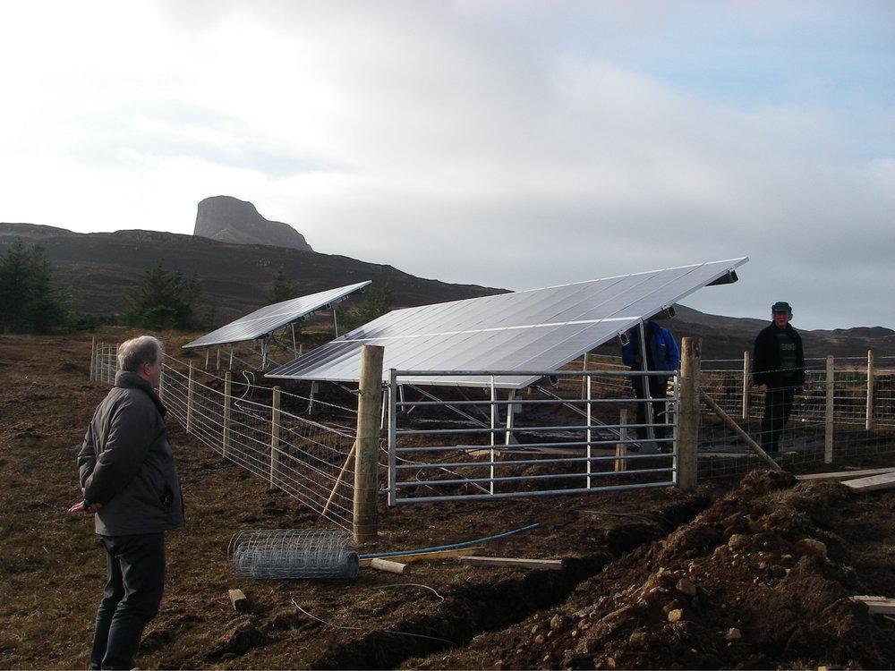 solar project on Eigg Isle of Eigg Flickr