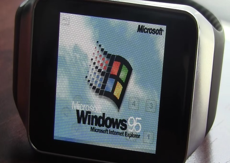windows 95 on smartwatch